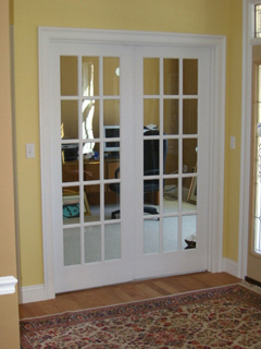 French doors, walls, and trim