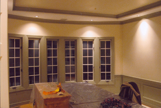 Bay window and walls